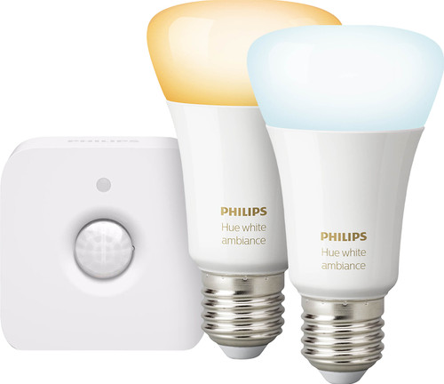 Philips Hue White Ambiance E27 Duopack Bluetooth + Philips Hue Bewegingssensor Main Image