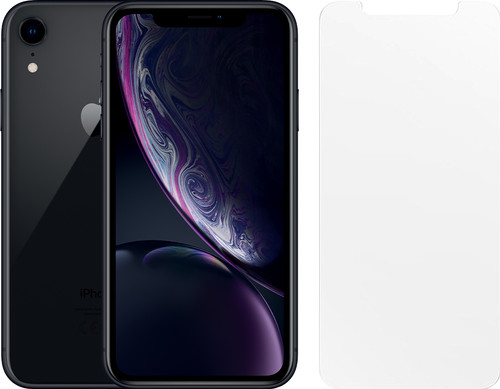 Apple iPhone Xr 128 GB Zwart + Otterbox Clearly Protected Screenprotector Main Image