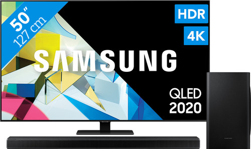 Samsung QLED 50Q80T + Soundbar Main Image