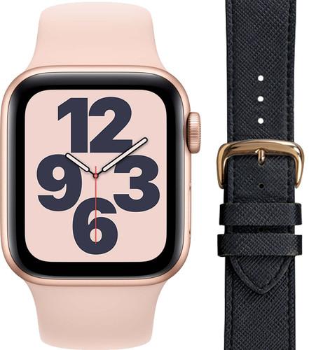 Apple Watch SE 40mm Rose Gold Pink Sand Strap + DBramante1928 Leather Strap Black/Rose Gol Main Image