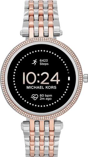 Michael Kors Darci Gen 5E Display MKT5129 Silver/Rose Gold Main Image