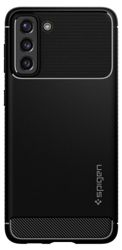 Spigen Rugged Armor Samsung Galaxy S21 Back Cover Black Main Image