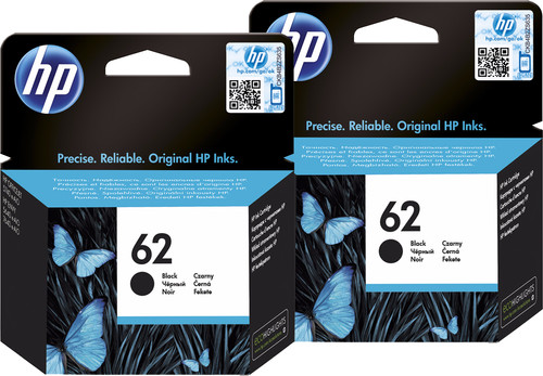 HP 62 Cartridges Zwart Duo Pack Main Image