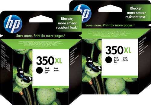 HP 350XL Cartridges Black Duo Pack Main Image