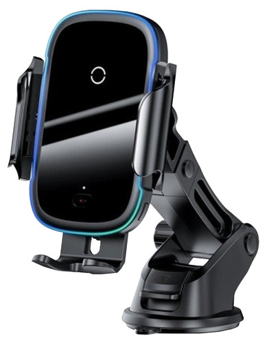 Baseus Universele Telefoonhouder Auto met Draadloos Opladen Zuignap/Roosterklem Main Image