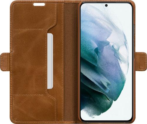 DBramante1928 Copenhagen Slim Samsung Galaxy S21 Book Case Leer Bruin Main Image