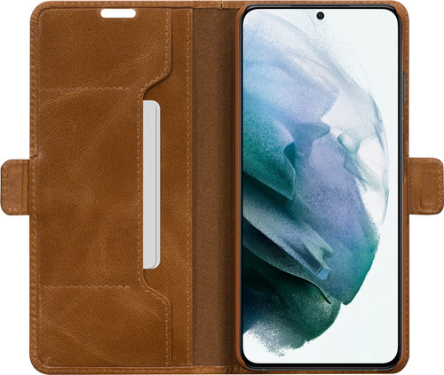 DBramante1928 Copenhagen Slim Samsung Galaxy S21 Plus Book Case Leer Bruin Main Image