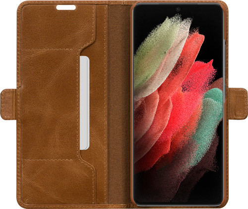 DBramante1928 Copenhagen Slim Samsung Galaxy S21 Ultra Book Case Leer Bruin Main Image