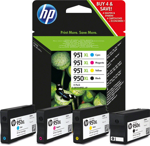 HP 950/951XL Cartridges Combo Pack Main Image