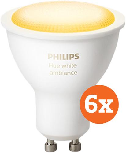 Philips Hue White Ambiance GU10 Bluetooth 6-Pack Main Image