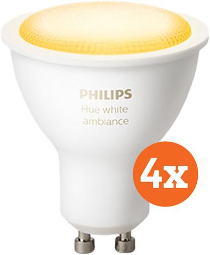 Philips Hue White Ambiance GU10 Bluetooth 4-Pack Main Image