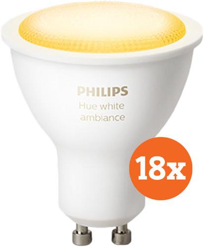 Philips Hue White Ambiance GU10 Bluetooth 18-Pack Main Image
