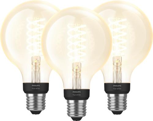 Philips Hue Filamentlamp White Globe E27 Bluetooth 3-pack Main Image