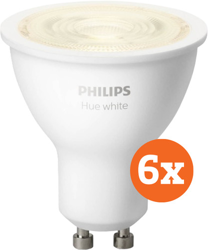 Philips Hue White GU10 Bluetooth 6-Pack Main Image