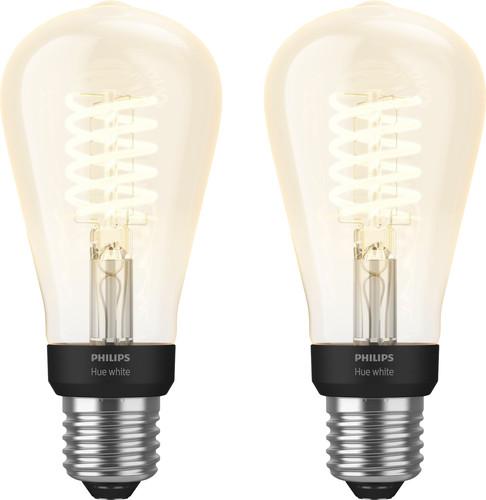 Philips Hue Filamentlamp White Edison E27 Bluetooth Duo Pack Main Image