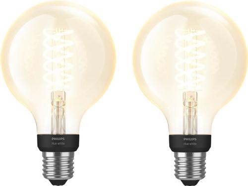Philips Hue Filamentlamp White Globe E27 Bluetooth Duo Pack Main Image