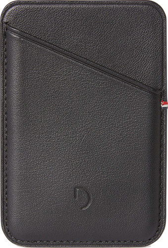Decoded Leather Card Wallet for iPhone with MagSafe Black Main Image