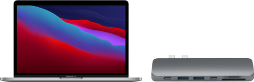 "Apple MacBook Pro 13"" (2020) 16GB/256GB Apple M1 Space Gray + Satechi usb C hub Main Image"