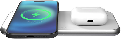 ZENS Dual Wireless Charger 15W for MagSafe White Main Image