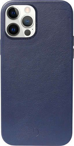 Decoded Apple iPhone 12 / 12 Pro Back Cover met MagSafe Magneet Leer Blauw Main Image