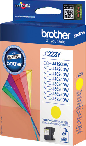 Brother LC-223 Cartridge Yellow Main Image