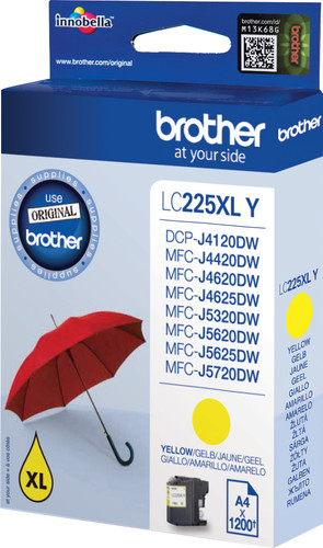 Brother LC-225XL Cartridge Geel Main Image