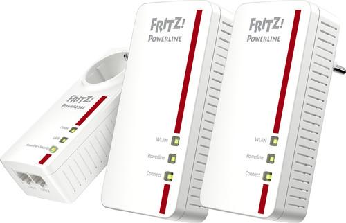 AVM FRITZ!Powerline 1260E WLAN Set International WiFi 1200Mbps 3 adapters Main Image
