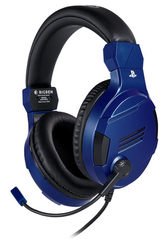 Bigben Official Licensed PS4 & PS5 V3 Stereo Gaming Headset Blauw Main Image