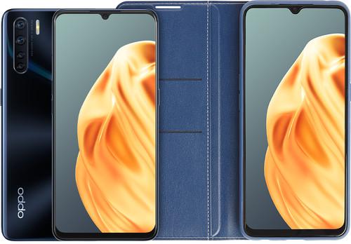 OPPO A91 128 GB Black + OPPO A91 Book Case Blue Main Image
