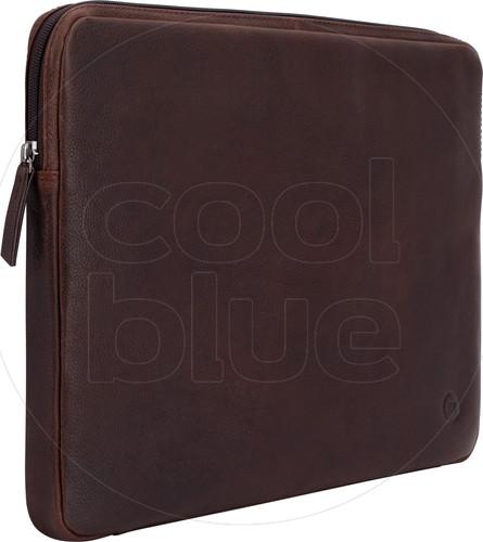 BlueBuilt 15 inch Laptophoes breedte 35 cm - 36 cm Leer Bruin Main Image