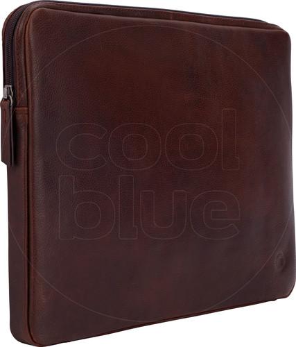 BlueBuilt 15 inch Laptophoes breedte 36 cm - 37 cm Leer Bruin Main Image