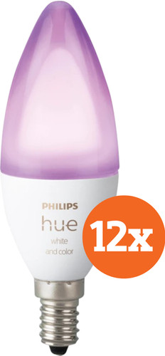 Philips Hue White and Color E14 Bluetooth 12-Pack Main Image