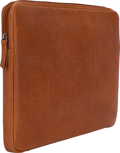 BlueBuilt 15 inch Laptophoes breedte 36 cm - 37 cm Leer Cognac Main Image