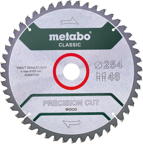 Metabo Saw Blade Precision Cut Wood 254x30x1.8mm 48T Main Image