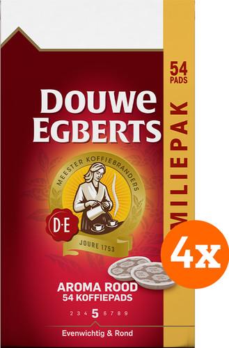 Douwe Egberts Aroma Rood Coffee Pads Family Pack 4x 54 units Main Image