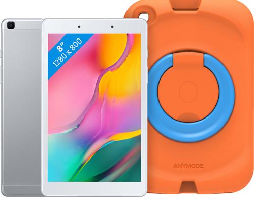 Samsung Galaxy Tab A 8.0 (2019) 32 GB Wifi Zilver + Samsung Kinderhoes Oranje Main Image