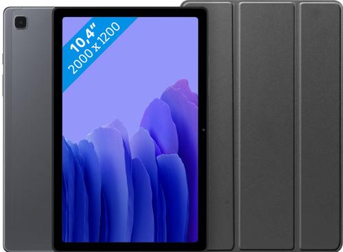 Samsung Galaxy Tab A7 32GB Wifi Grijs + Just in Case Book Case Zwart Main Image