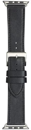 DBramante1928 Copenhagen Apple Watch 42/44 mm Leren Bandje Zwart/Zilver Main Image