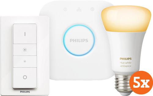 Philips Hue White Ambiance E27 Starter 5-pack Main Image