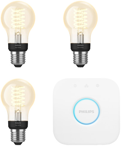 Philips Hue Filament Light White Standard E27 Bluetooth Starter 3-Pack Main Image