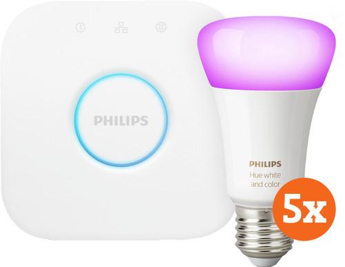 Philips Hue White & Color E27 Starter 5-pack + 1 Dimmer Main Image