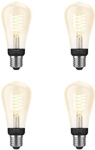 Philips Hue Filament Light White Edison E27 Bluetooth 4-pack Main Image