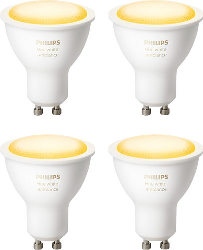 Philips Hue White Ambiance GU10 Bluetooth 4-pack Main Image