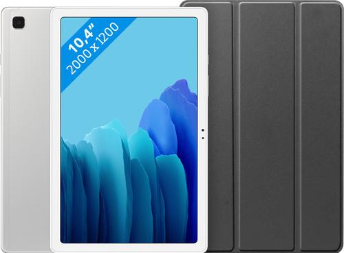 Samsung Galaxy Tab A7 32GB WiFi Silver + Just in Case Book Case Black Main Image