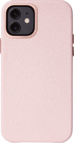 Decoded Apple iPhone 12 / 12 Pro Back Cover Leer Roze Main Image