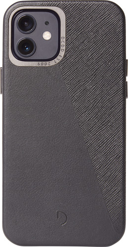 Decoded Dual Apple iPhone 12 / 12 Pro Back Cover Leer Zwart Main Image
