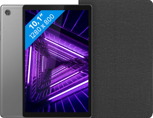 Lenovo Tab M10 HD (2de generatie) 64 GB Wifi Grijs + Lenovo Book Case Zwart Main Image