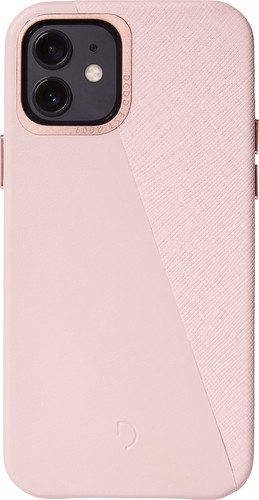 Decoded Dual Apple iPhone 12 / 12 Pro Back Cover Leer Roze Main Image