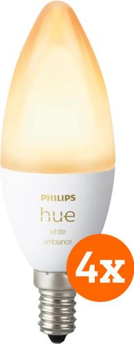 Philips Hue White Ambiance E14 Bluetooth 4-Pack Main Image