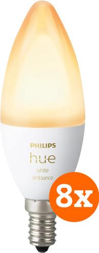 Philips Hue White Ambiance E14 Bluetooth 8-Pack Main Image